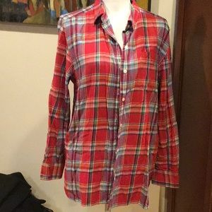 Lauren Jeans Co. red plaid flannel